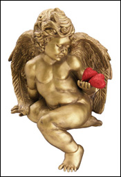 Cupid holding two hearts. Royalty-free image from office.microsoft.com