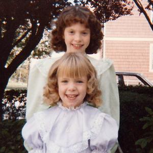 Karen Bristow and her sister, circa 1983-1984