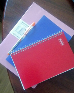 3 Notebooks and a Pen